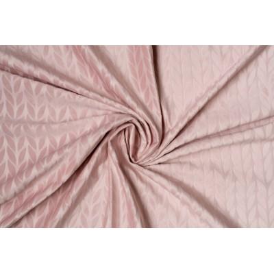 Плюшен плат за плътна завеса с релефен десен в розово