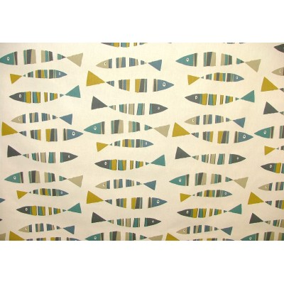 Curtain for children with colorful fish