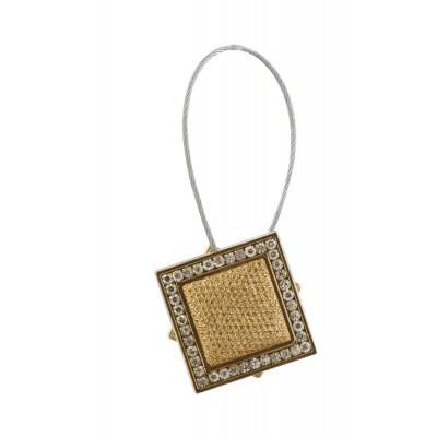 Квадратна магнитна щипка за пердета и завеси с декорация