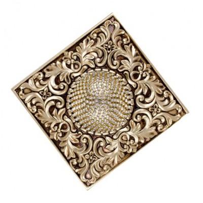 Декоративен квадратен държач за завеси с флорални елементи