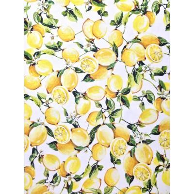 Плат за плътна завеса с дигитален печат Лимони