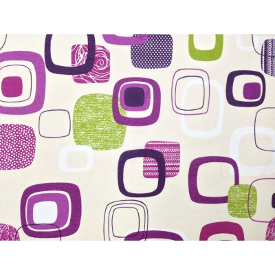 Curtain with design purple quadrate