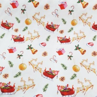 Коледен плат с шейни