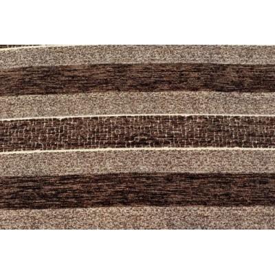 Дамаска Фибреа на райе цвят тъмно кафяв