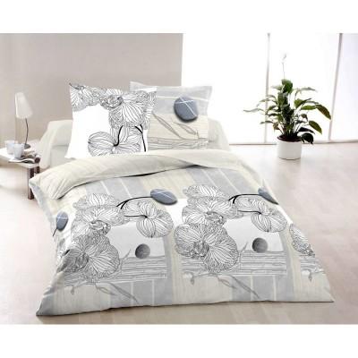 Двоен спален комплект с два плика ранфорс Орхидея
