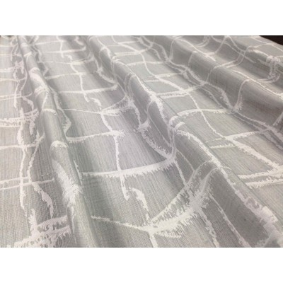Curtain in light grey with white lines