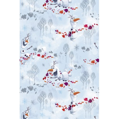Curtain for children with original Disney design Olaf
