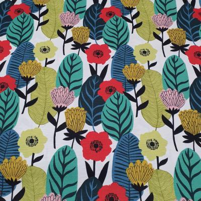 Дамаска с шарени абстрактни листа и цветя