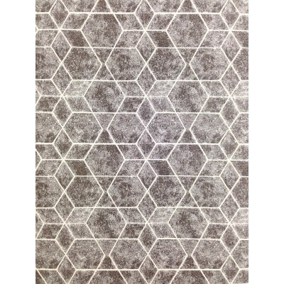 Curtain with geometric figures