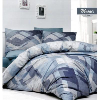 Единичен спален комплект от ранфорс Mosaic