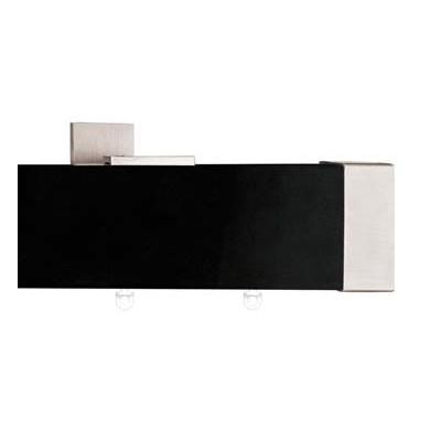 Единичен МДФ Корниз за завеси 244см. цвят черен