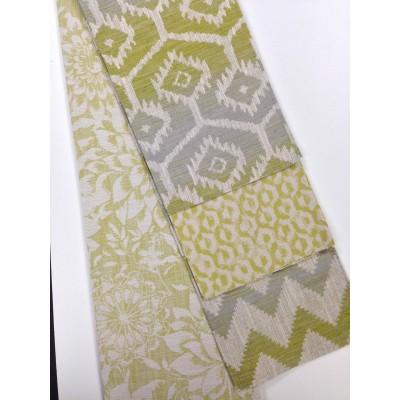 Луксозен жакардов плат за завеси и дамаска с различни десени в зелено