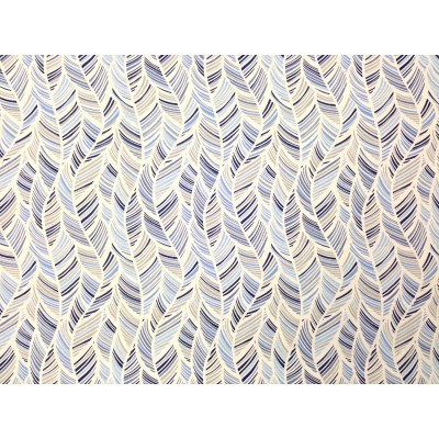 Curtain with Leafs in blue and grey