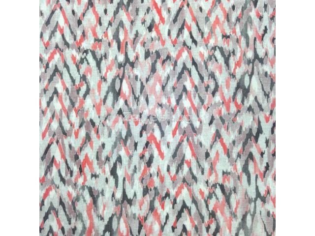 Плат за плътна завеса на пръски в коралово и сиво