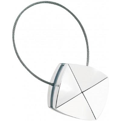 Магнитна щипка за пердета и завеси с квадратна форма в сребристо