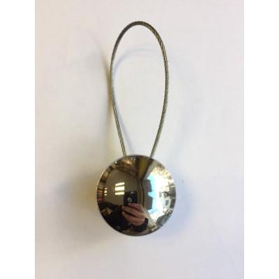 Магнитна щипка за пердета и завеси в сребърно