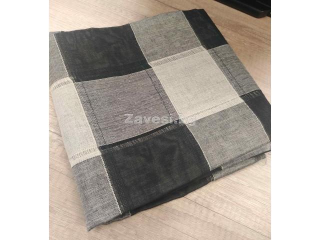 Намалено перде в черно и бежово 1,30 ширина на 2,10 височина, подходящо и за тръбен корниз