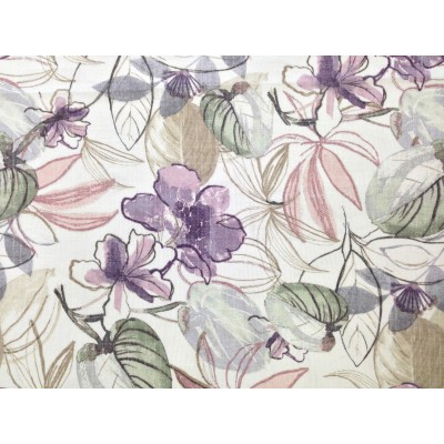 Curtain with flowers in purple