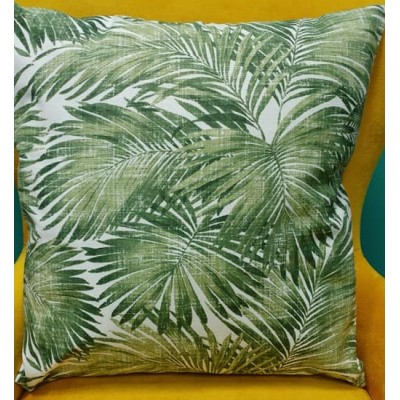 Decorative pillow case Leafs in green size 43/43