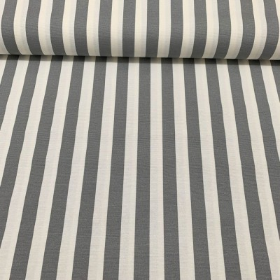 Curtain and upholstery with stripes in beige