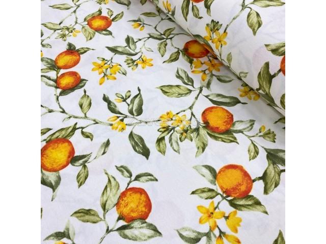 Плат за плътна завеса и дамаска с портокали