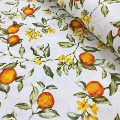 Curtain and upholstery with oranges