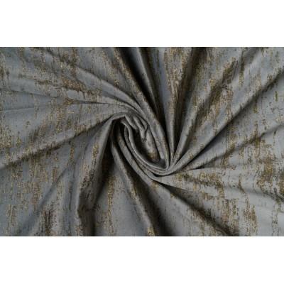 Plush curtain in grey