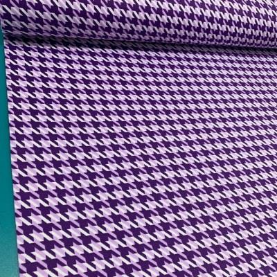 Плат за плътна завеса и дамаска Пепит в лилаво
