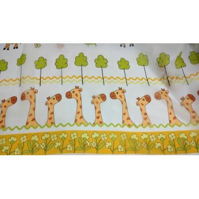 Плат за тънко детско перде с жирафи