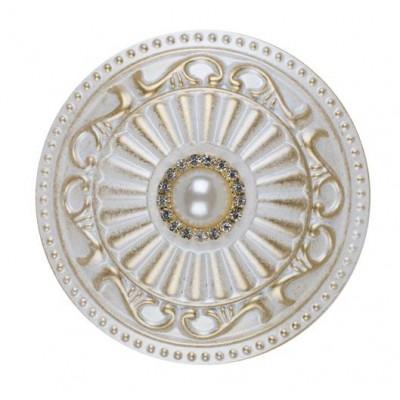 Декоративен кръгъл държач за пердета и завеси с перла
