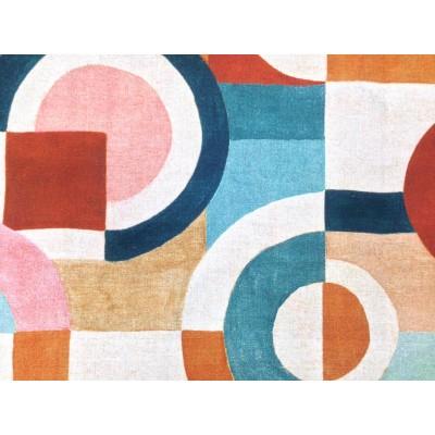 Плат за плътна завеса и дамаска с абстрактни геометрични форми