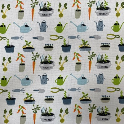 Curtain with designs Vegetable garden