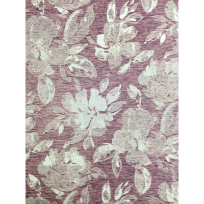 Плат за плътна завеса с цветя на лилав фон