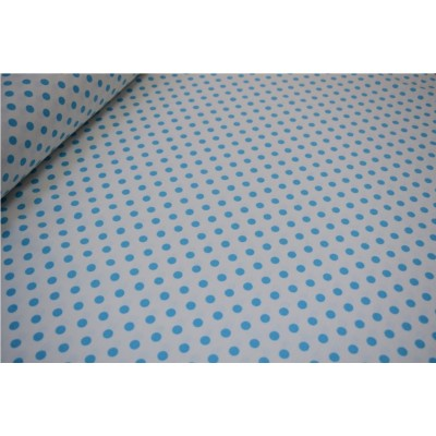 Curtain and upholstery with blue dots