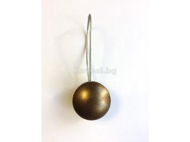 Магнитна щипка за пердета и завеси в антично злато