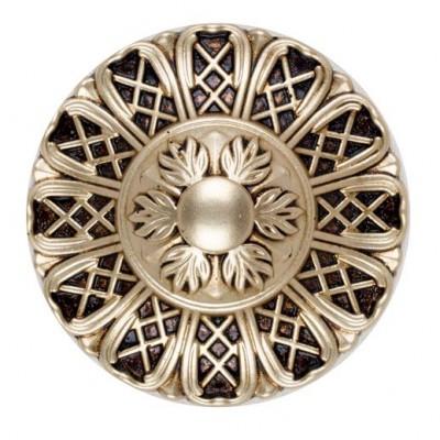 Декоративен кръгъл държач за завеси с флорални елементи